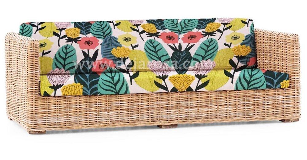 Градински възглавници с плат на листа хоризонтални